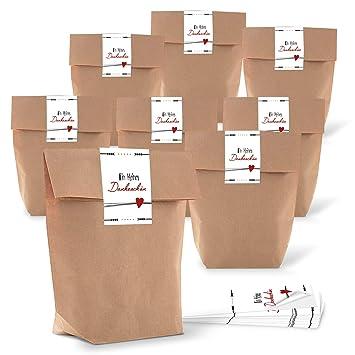 762ba3c9d Logbuch-Verlag - Bolsa de regalo para invitados pequeña, bolsa de papel con  texto