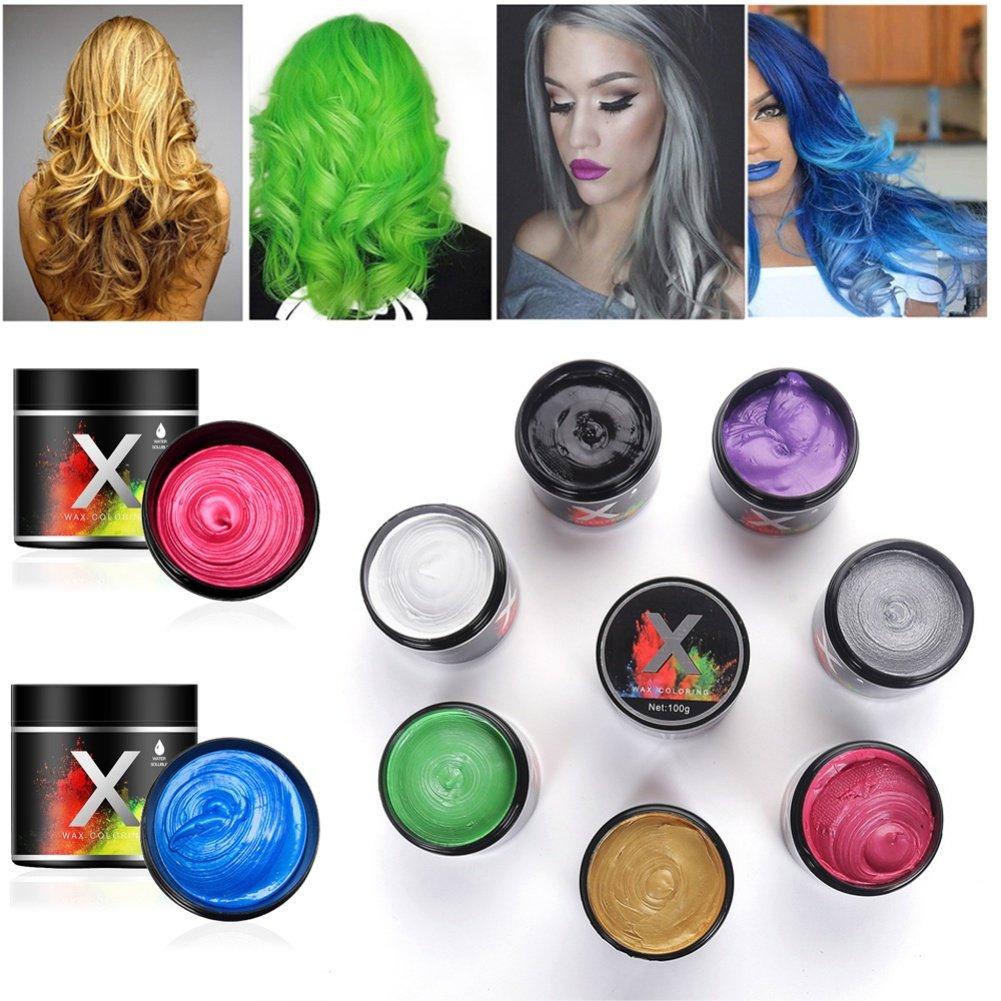 SUNSENT New Style 8 Colors Hair Care Hair Wax Dye Styling Cream Matte Hairstyle Pomades For Men Women by SUNSENT