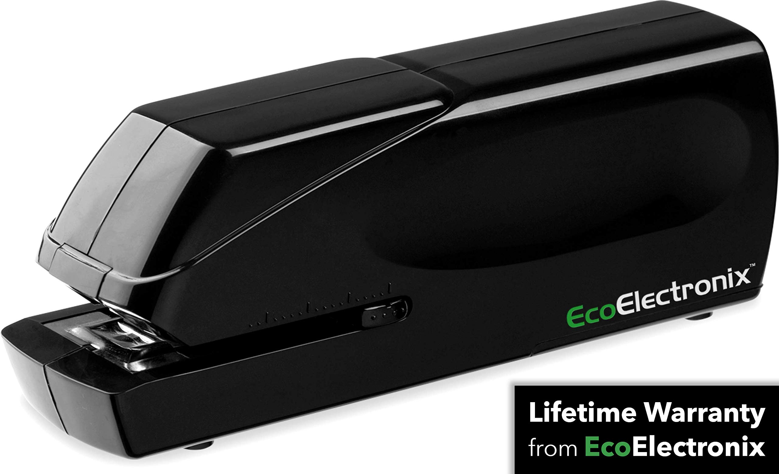 EX-25 Automatic Heavy Duty Electric Stapler - Includes Staples, AC Power Cable + Extended Warranty by EcoElectronix - Jam-Free 25 Sheet Full-Strip Staple Capacity, For Professional and Home Office Use