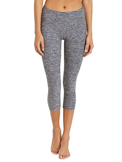 23383c95b168d Beyond Yoga Women's Space Dye Capri Leggings, Black/Steel, X-Small