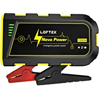 LOFTEK Portable Car Battery Jump Starter (Up to 7.0L Gas or 5.5L Diesel Engine), 12V Power Pack Auto Battery Booster…