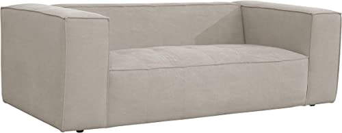 Amazon Brand Rivet Thomas Modern Upholstered Sofa Couch, 81.5 W, Grey