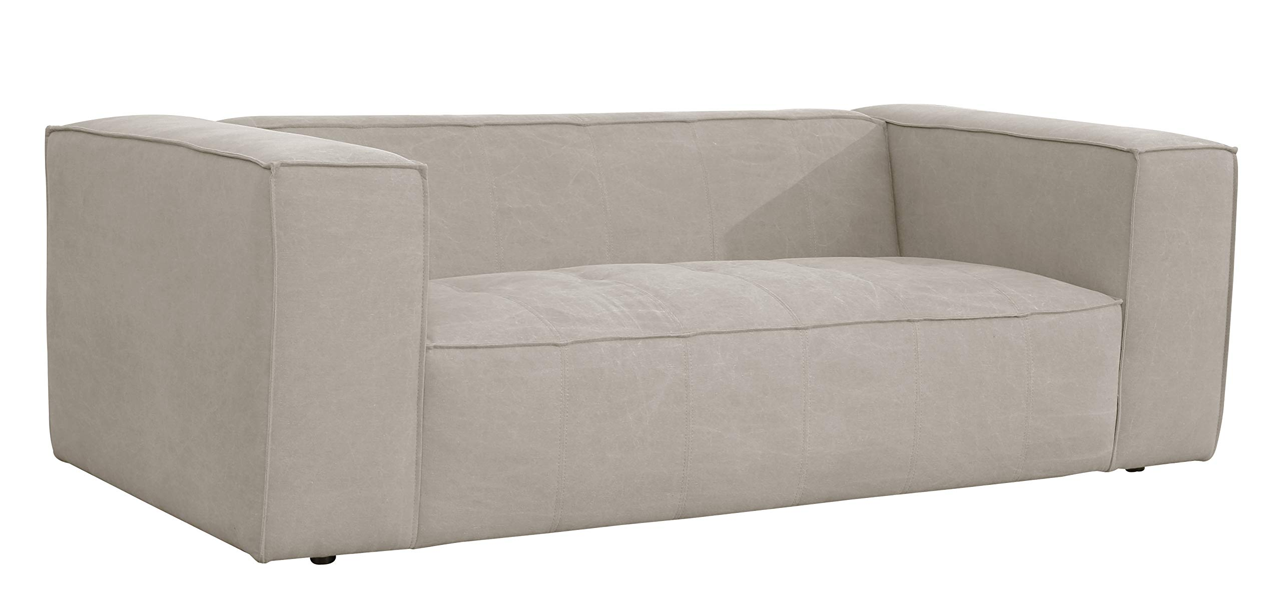 Rivet Thomas Modern 81.5'' Sofa, Fabric, Gray by Rivet