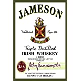 Jameson Irish Whiskey Vintage Metal Tin Sign Wall Plaque Poster Cafe Bar Pub Beer Wall Home Decor 8x12 Inch Tin Sign