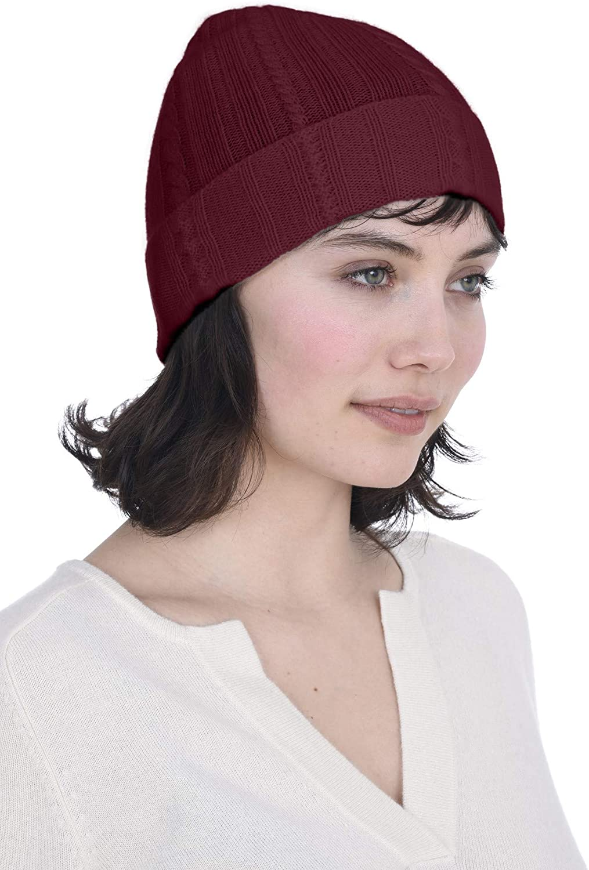 SALE Burgundy Ladies Winter Hat Girt For Her 100/% Wool