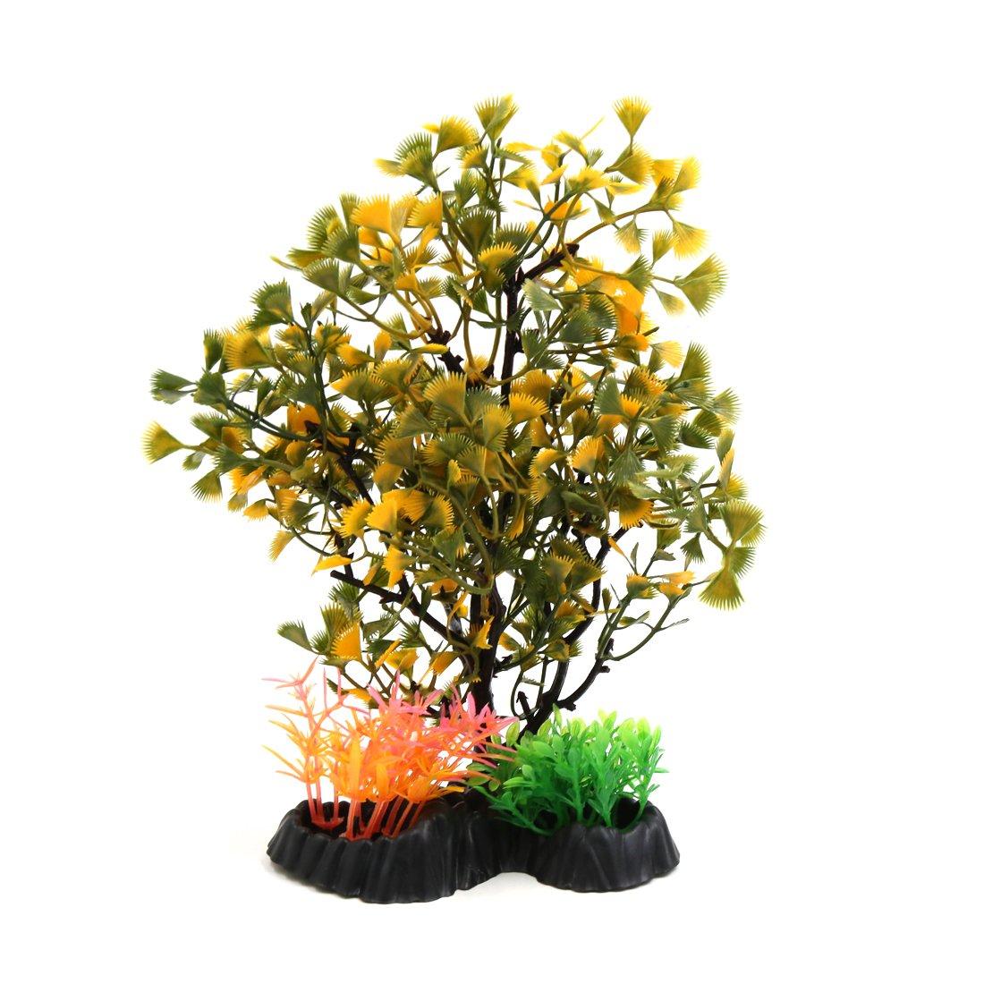sourcing map Árbol de Plástico Acuario Planta Hierbas Ornamento del ...