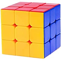 PurpleFly High Stability Stickerless - 3x3x3 Speed Cube (Multi Color)