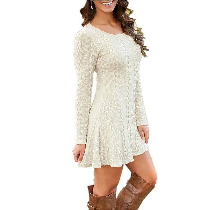 Jessieco Women Causal Plus Size S 5xl Short Sweater Dress Female