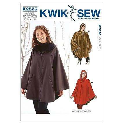 Amazon com: Kwik Sew K2826 Ponchos Sewing Pattern, No Size