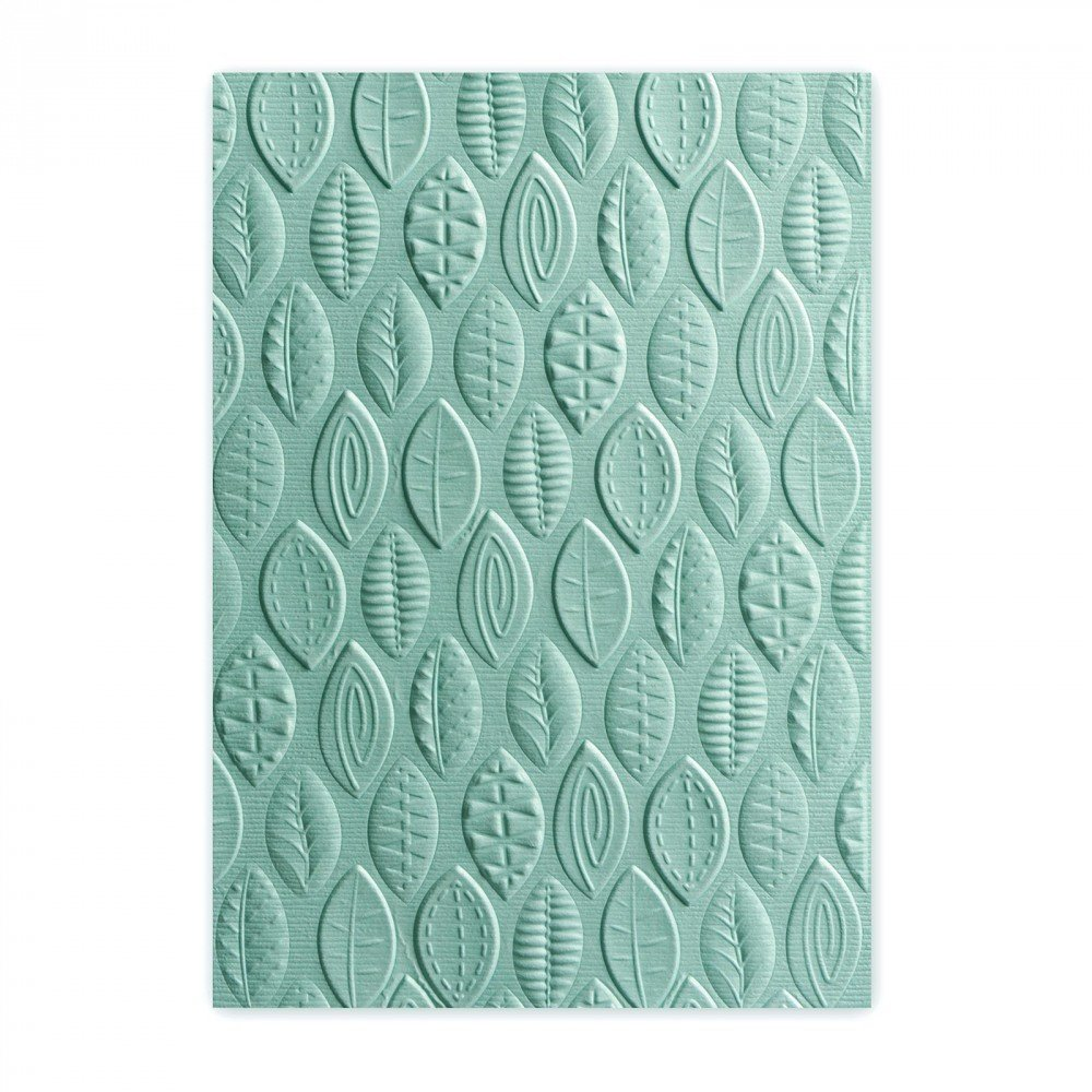 Sizzix 661260 3-D Textured Impressions Embossing Folder, Leaves by Lynda Kanase Ellison