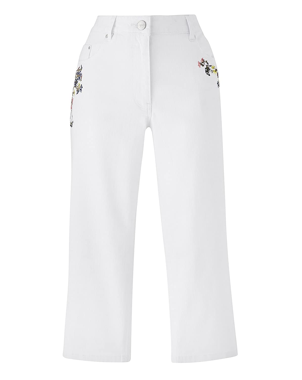 Womens Embroidered Crop Jeans JD Williams