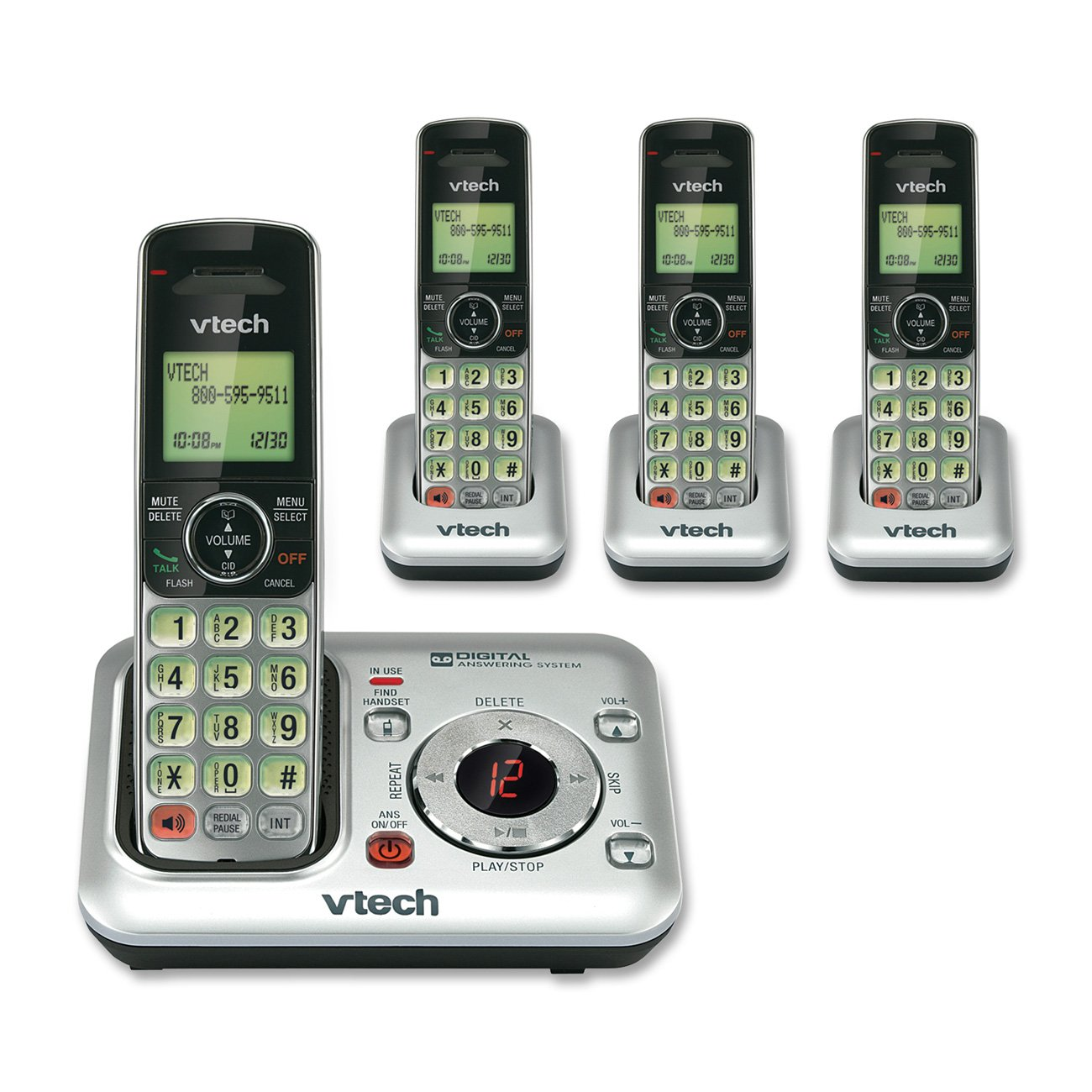 amazon com vtech cs6429 3 3 handset dect 6 0 cordless phone with rh amazon com Best Wireless Home Phones 2018 Best Wireless Home Phones