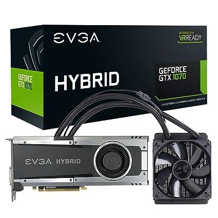 EVGA 08G-P4-6178-KR - Tarjeta gráfica (GeForce GTX 1070 Hybrid Gaming 8 GB), Color Negro