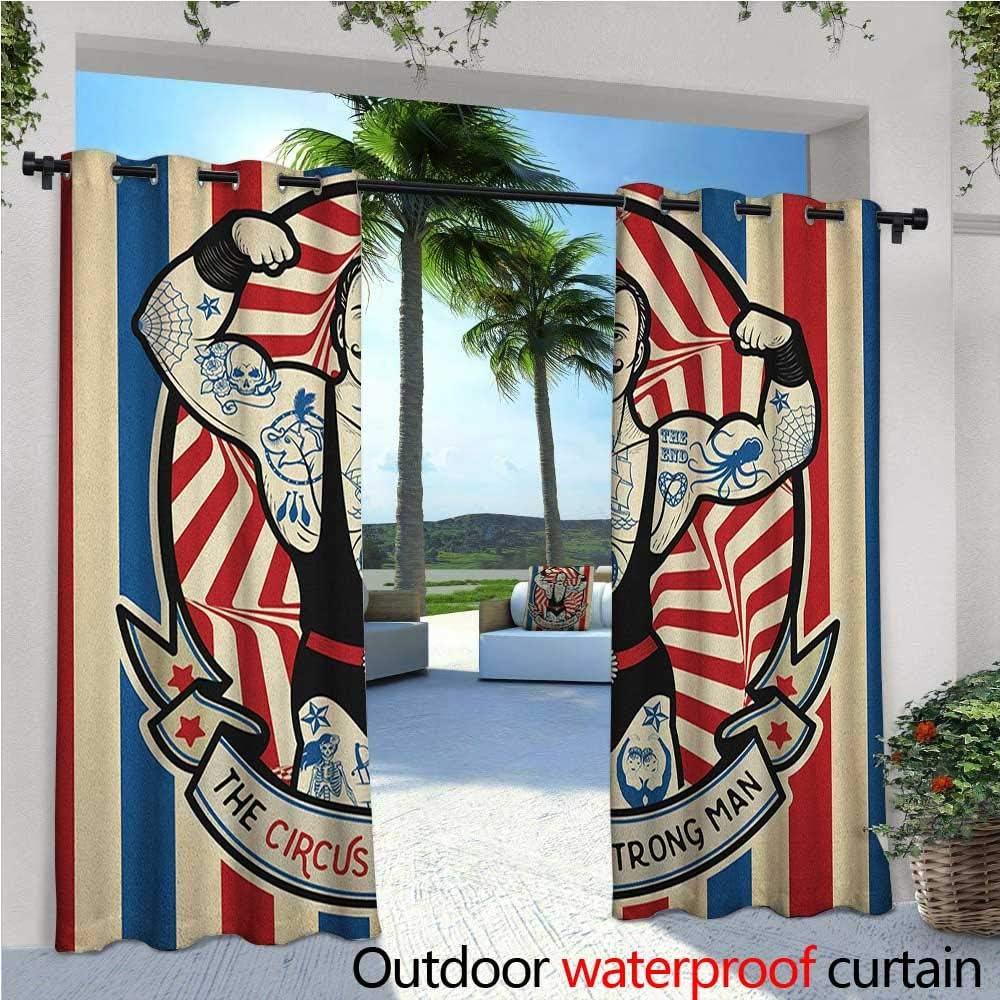 Circus Outdoor- Cortina de privacidad de pie para exteriores con ...