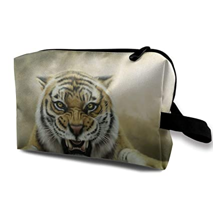 With Wristlet Bolsas de cosméticos Angry Tiger Travel ...