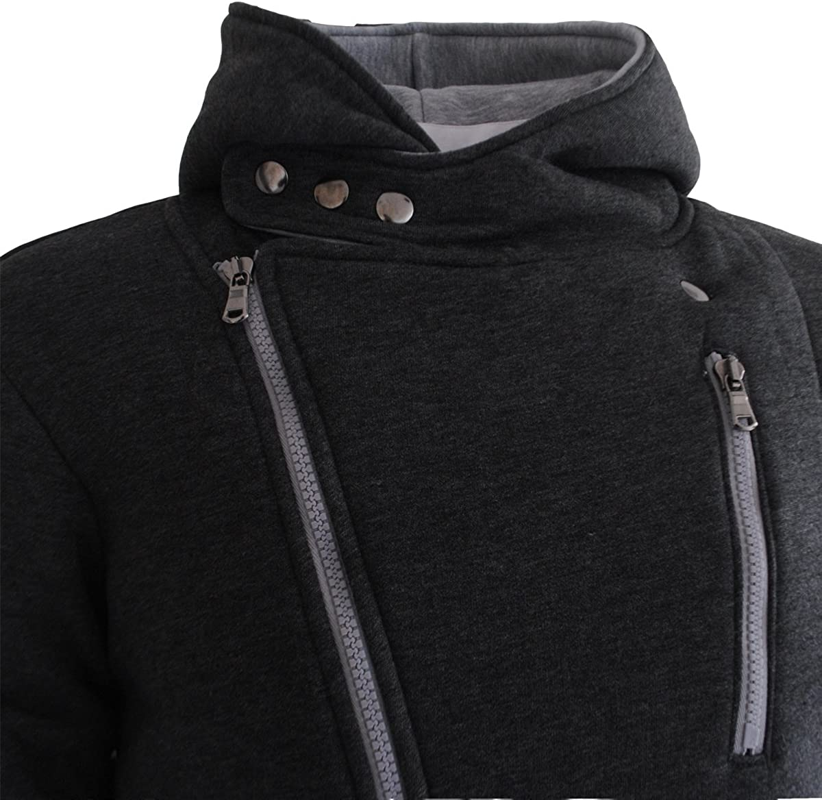 Garcia Pescara Designer Sweatjacke Sweatshirt Hoodie Jacke Anthrazit-grau
