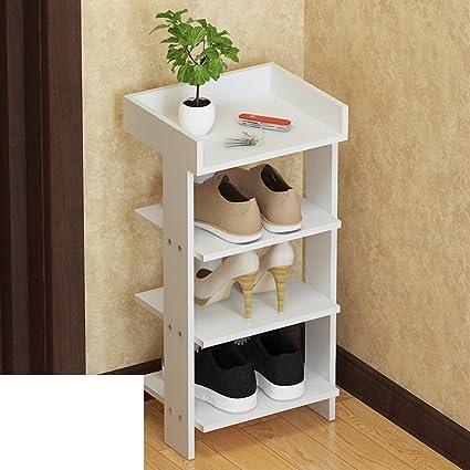 MCUWEHGFET Estante del Zapato de Madera sólida Multicapa,Sencillo,Dormitorio,la Puerta,