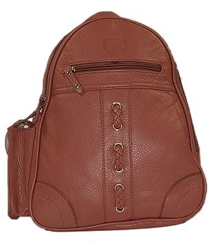 b3af3141d0467 Cityrucksack Damenrucksack Kunstleder Rucksack Backpack Lederoptik 5557  (Altrosa)