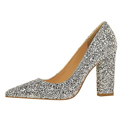 Tire Tissu Femme À Chaussures Unie Couleur Voguezone009 Paillette YvxRZnw