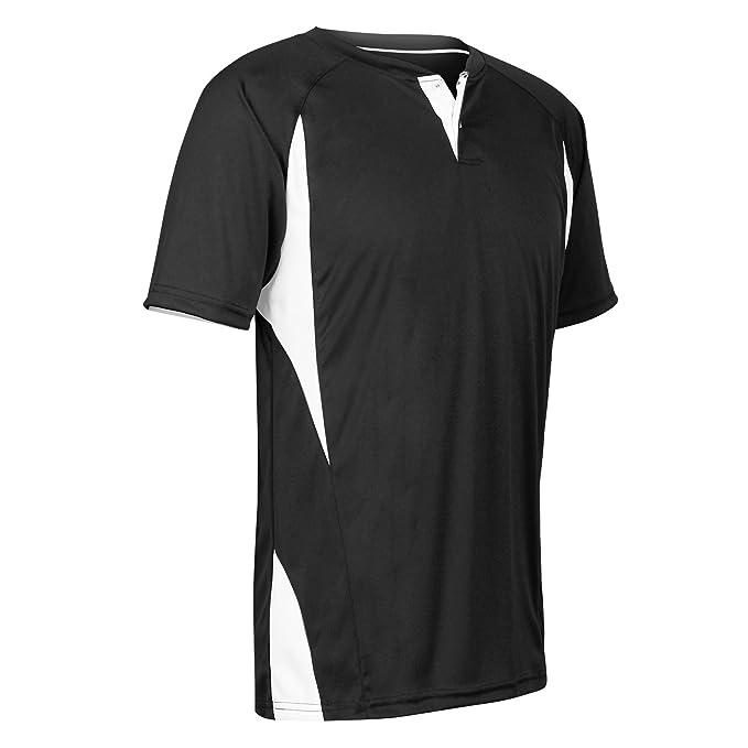 13ecc347c205 Amazon.com  CHAMPRO 2-Button Jersey BS63 Adult and Youth Uniform Shirt  Baseball Jersey Top  Clothing
