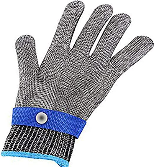 Safety Cut Proof Stab Resistant Butcher Gloves Stainless Steel Metal Mesh DP