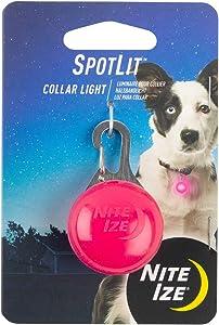 Nite Ize SpotLit Clip-On LED Light with Carabiner, Weather Resistant, Pink