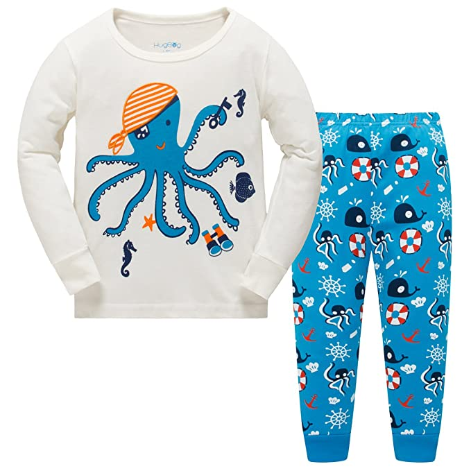 b5109ffdfbef Hugbug Toddler Boys Octopus Pyjama Sets 2-7 Years  Amazon.co.uk ...