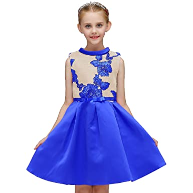 242294c8b4de9 ADHS Girls Easter Dresses Girls Christmas Dresses Girls Thanksgiving Dresses (Blue,2-3Y