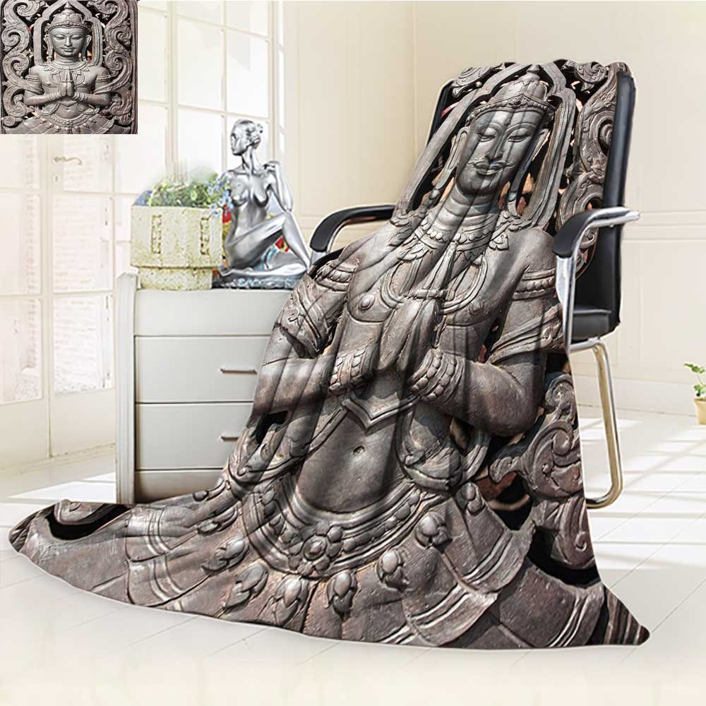 AmaPark Digital Printing Blanket Buddha in Thai Art with s Carving Bronze Summer Quilt Comforter by AmaPark
