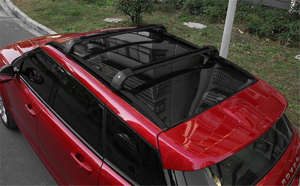 Tetto Ferroviario Per Land Rover Range Rover Evoque 2010-2018 Auto Portapacchi Bagagli nero Cross bar