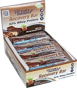 Victory Endurance Recovery Bar Sabor Avellana. Barrita recuperadora con 32% de proteína (12x50 g)