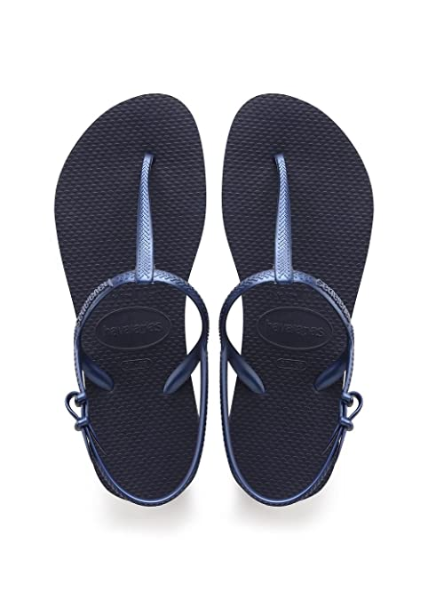 Havaianas Freedom Sandali con Cinturino alla Caviglia Donna Blu Navy