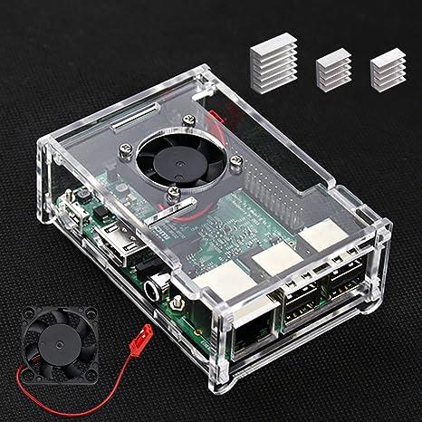 VSTON Raspberry Pi 3 B + Caja con Ventilador y 3 Piezas ...