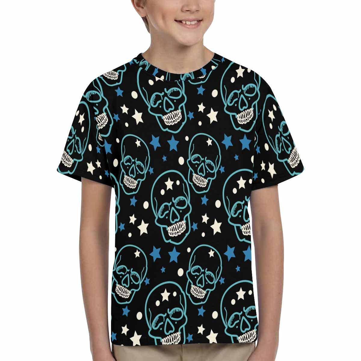 XS-XL INTERESTPRINT Childs T-Shirt Skull Pattern Skull Skull