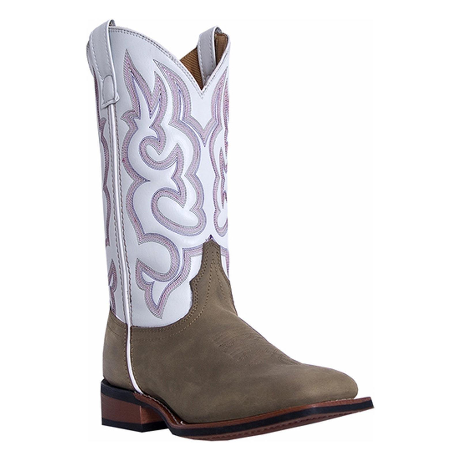 Laredo Women's Mesquite Western Boot, Taupe/White, 6 M US