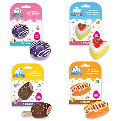 Turtle Butterfly Modeling Compound Lion /& Shark Air Dough Animals 4-Pack Ultra Lightweight Non-Toxic