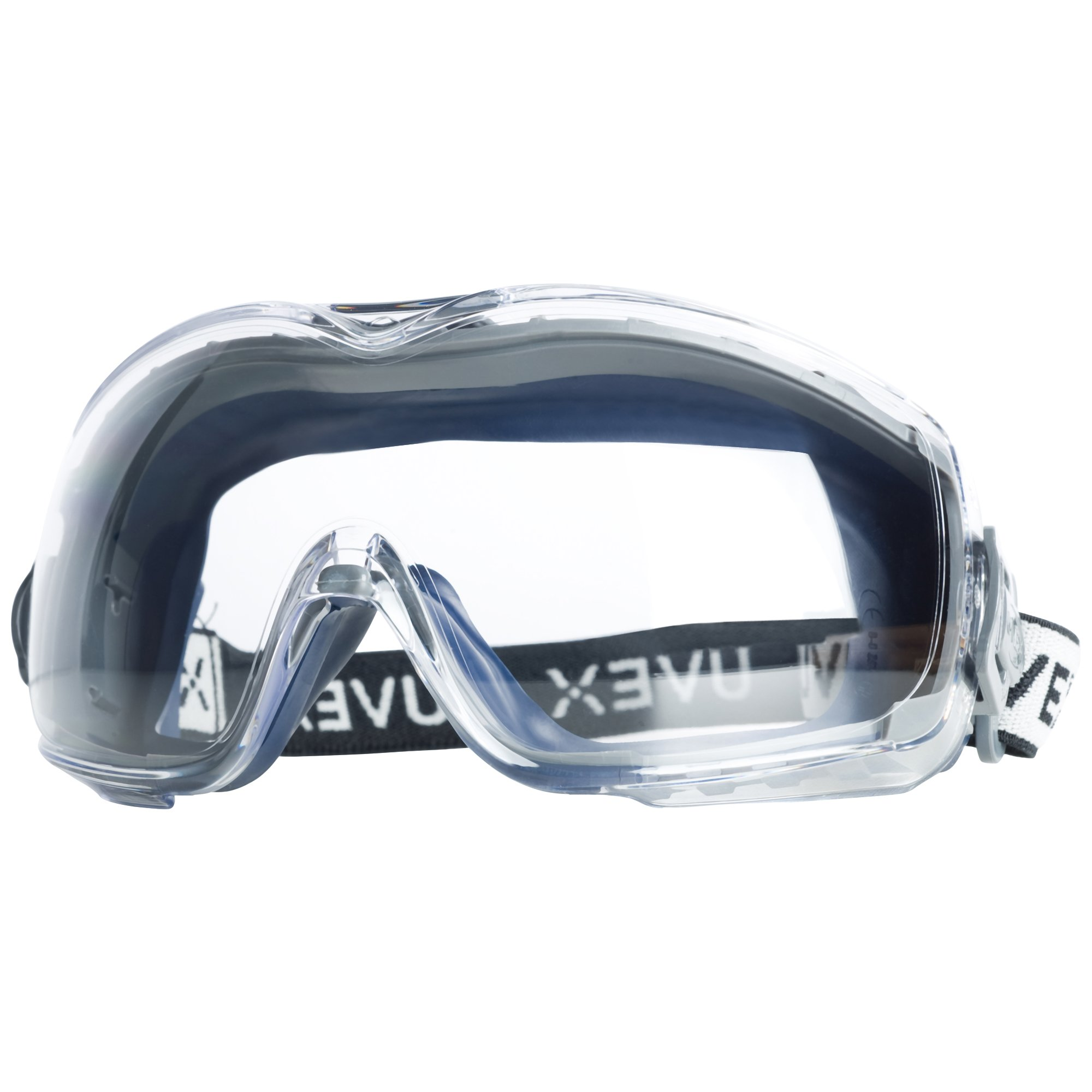 Uvex Stealth OTG Safety Goggles with Anti-Fog/Anti-Scratch Coating (S3970DF ) - 19369, Navy Body, Clear Lens by Uvex by Sperian