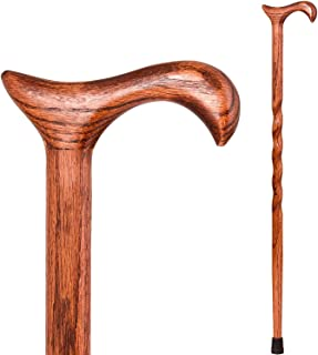 product image for Brazos Walking Cane for Men and Women Handcrafted of Lightweight Wood and made in the USA, Red Oak, 34 Inches
