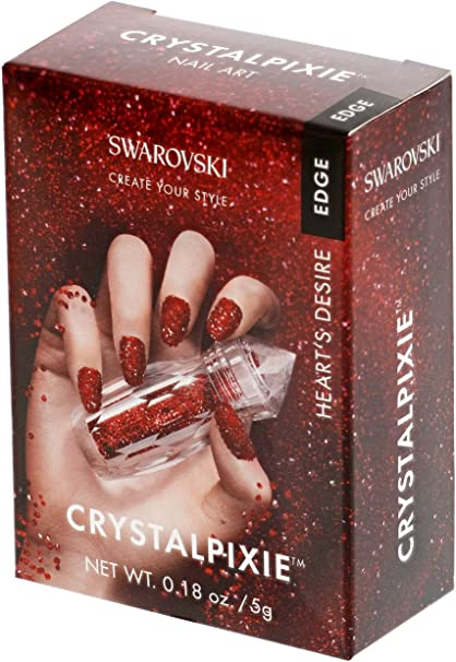 gogoritas Crystal Pixie Edge | DIY Ongle Conception avec Cristaux Swarovski  | Nail Box Pixie - Heart?s Desire, 1 Pièces