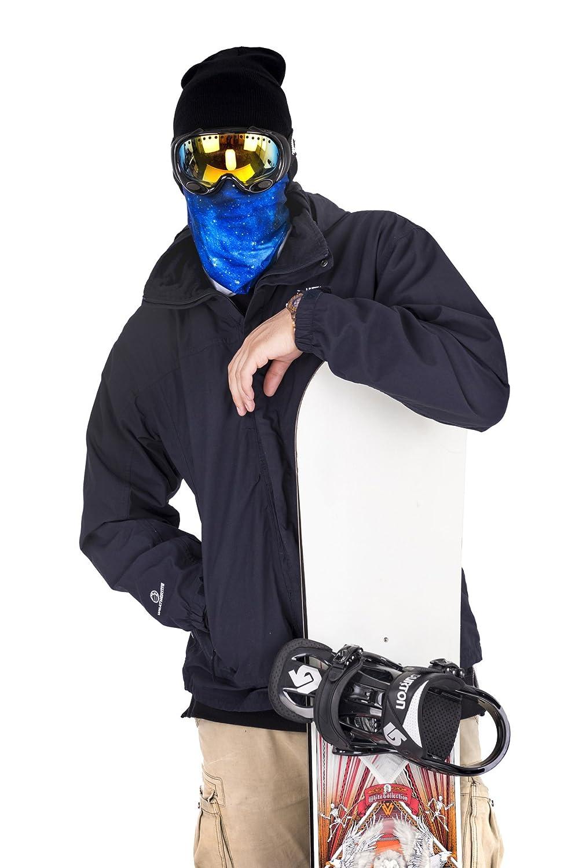 Creativee Telaio 3D Collo Neck Tubo Motociclista Bandana Collo Gommino Sottile Maschera da Sci Multifunzione Balaclava Copricapo Orecchio Lampeggiatore Headwrap