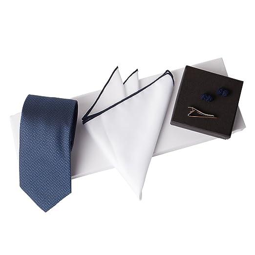 Jacob Alexander Men s Woven Luxury Tie Pocket Square Tie Clip Silk Knot  Cufflinks   Giftbox- 4299e9d36cf
