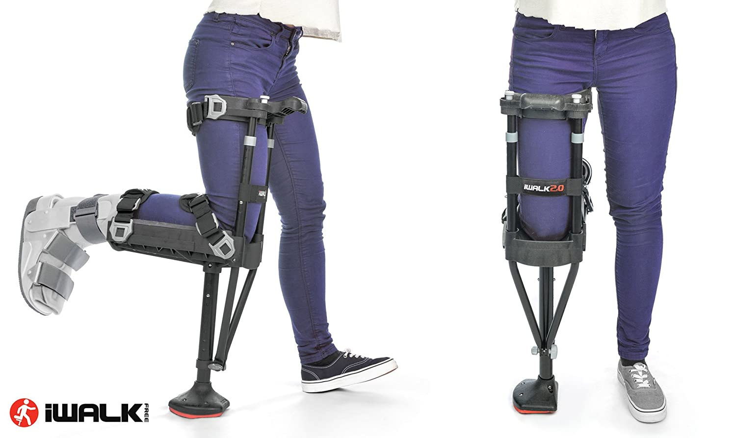 iWALK2 0 Hands Free Knee Crutch - Alternative for Crutches and Knee  Scooters - by iWALKFree