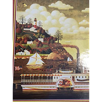 Adults 1000 Pieces Modern-Jigsaw Puzzles Kids Toy Charles Wysocki's Americana Puzzle Series - 1000 Piece Puzzle - in The Fall: Toys & Games