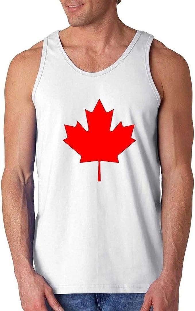 Artix A Canada Maple Leaf Men Tank Top Medium Navy Blue