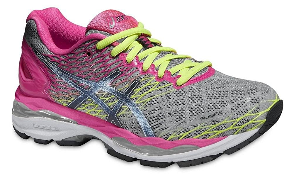 Amazon.com | Asics Gel Nimbus 18 Running Sport Shoes silver/pink/neon, EU Shoe Size:35.5 EU | Road Running