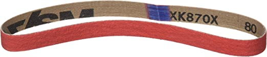VSM 784437 Bande Abrasif C/éramique Grains 80 pour M/étal Rouge 75 x 533 mm