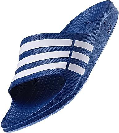 Elocuente antes de maorí  adidas Duramo Slide Unisex Adult Shower & Bath Slippers - G14309 Blue -  White, UK 18 - EUR 55 1/3 - 34.5 cm: Amazon.co.uk: Shoes & Bags