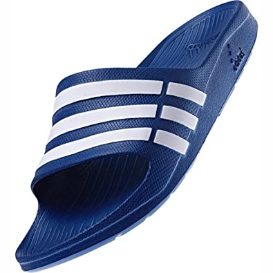 info for 7c1f0 94512 Image Unavailable. Image not available for. Color adidas Men Sandals  Swimming Duramo Slides Blue ...