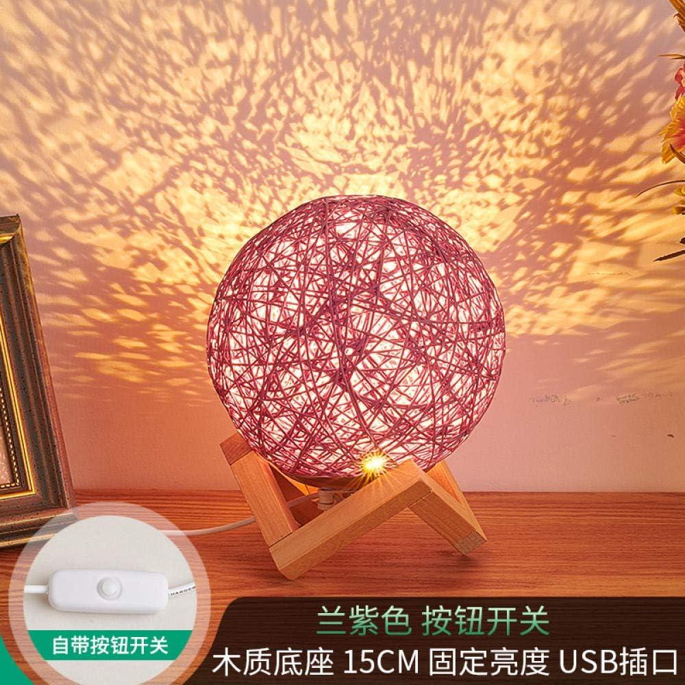 Lampe de Nuit Chevet Veilleuse Lampe de chevet lampe petite lampe lune cadeau-20cm rose fixe night light veilleuse enfant Éclairage Télécommande 20cm-colorée