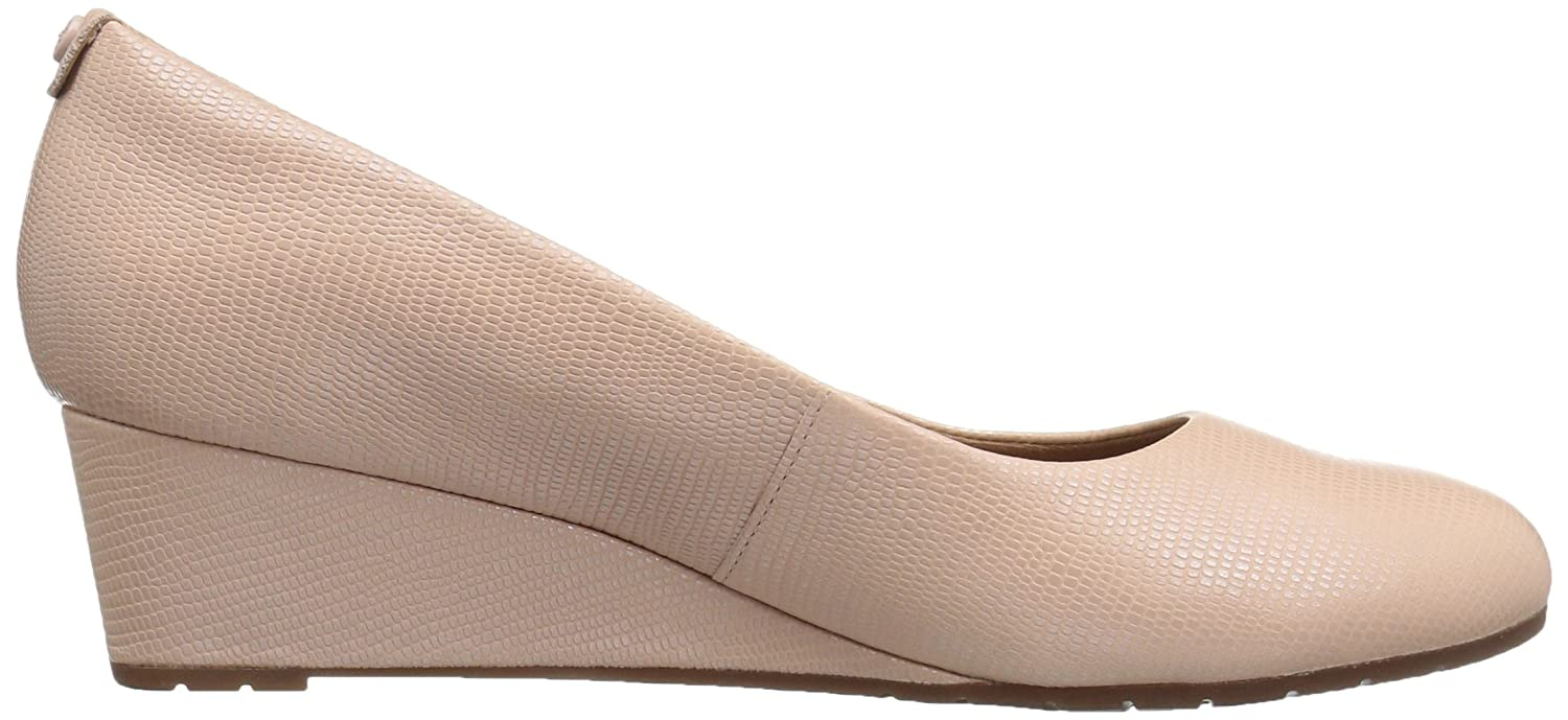 CLARKS Women's Vendra Bloom Wedge Pump Pink B01IAMQT8Q 8 B(M) US|Dusty Pink Pump Lizard Leather 153f94